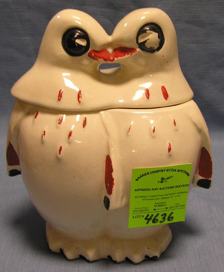 Kissing penguins cookie jar by McCoy