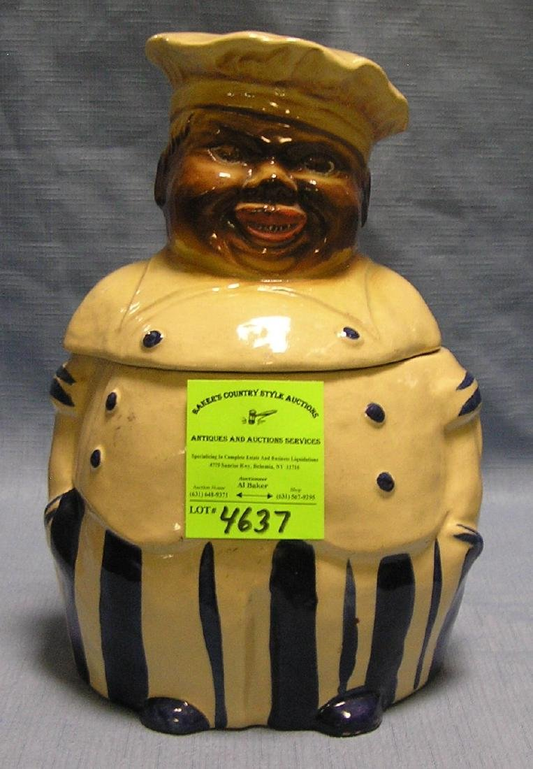 Early black chef figural cookie jar