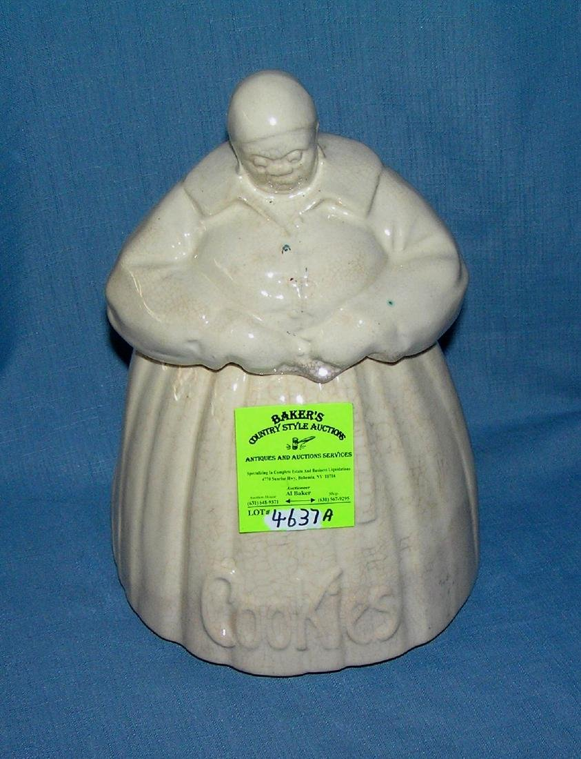 Early Mammy cookie jar signed McCoy