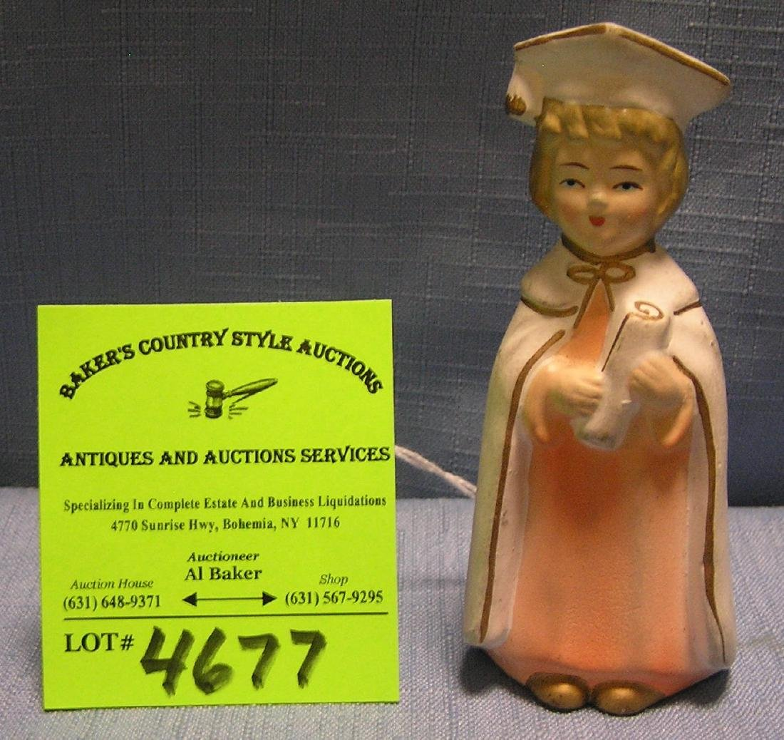 Vintage hand painted graduation day figurine