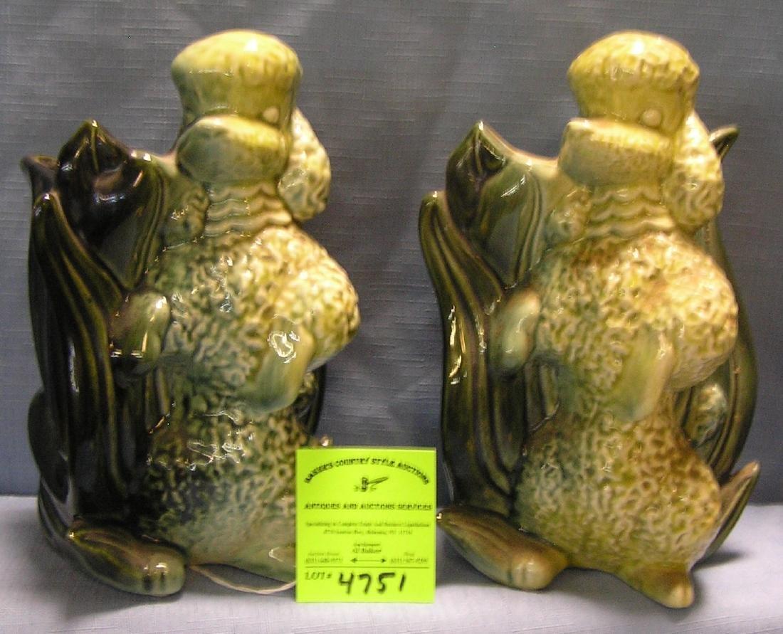 Art pottery poodle shaped planters