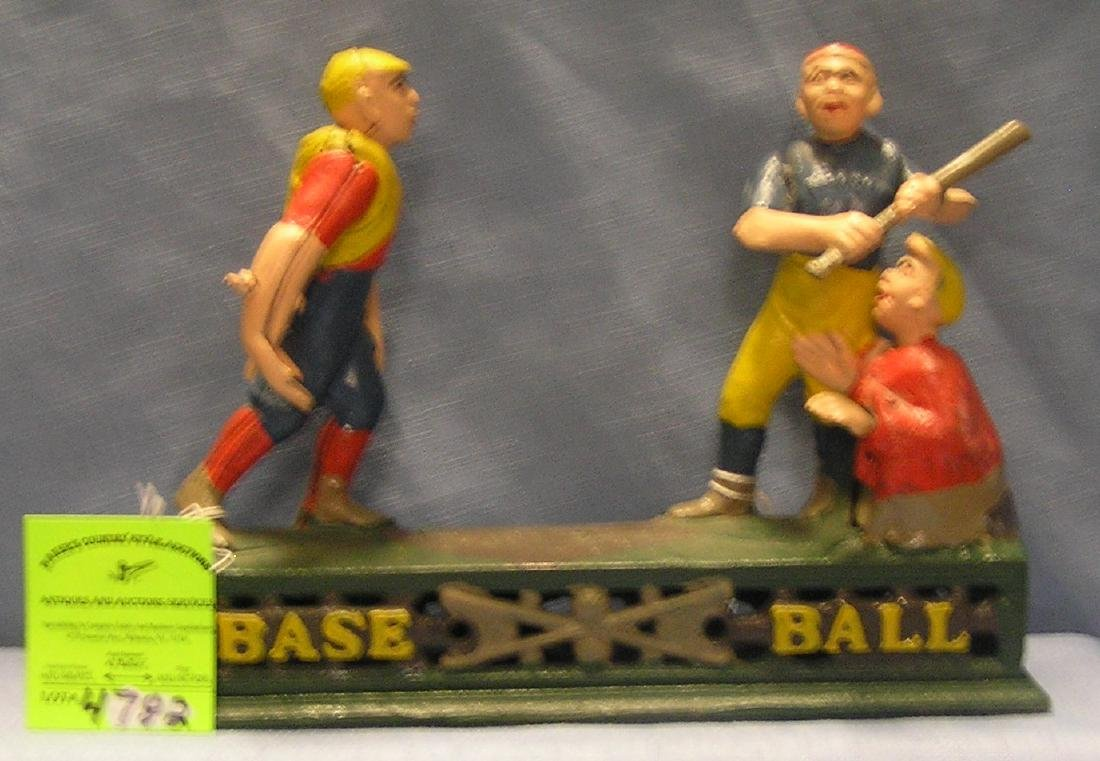 Cast iron Baseball Bank
