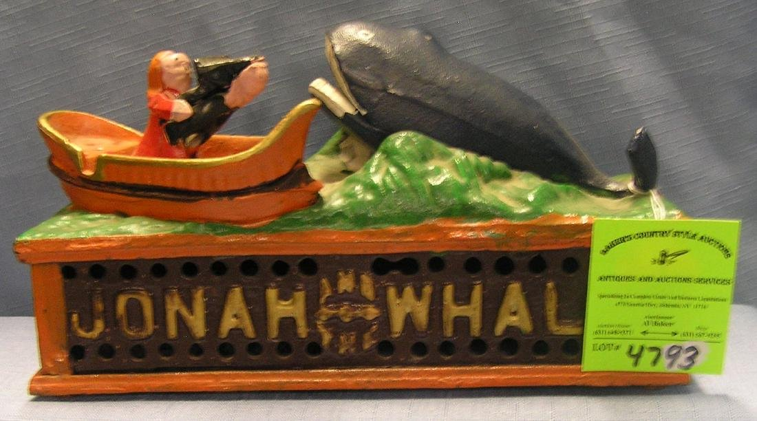 Jonah and the Whale mechanical bank