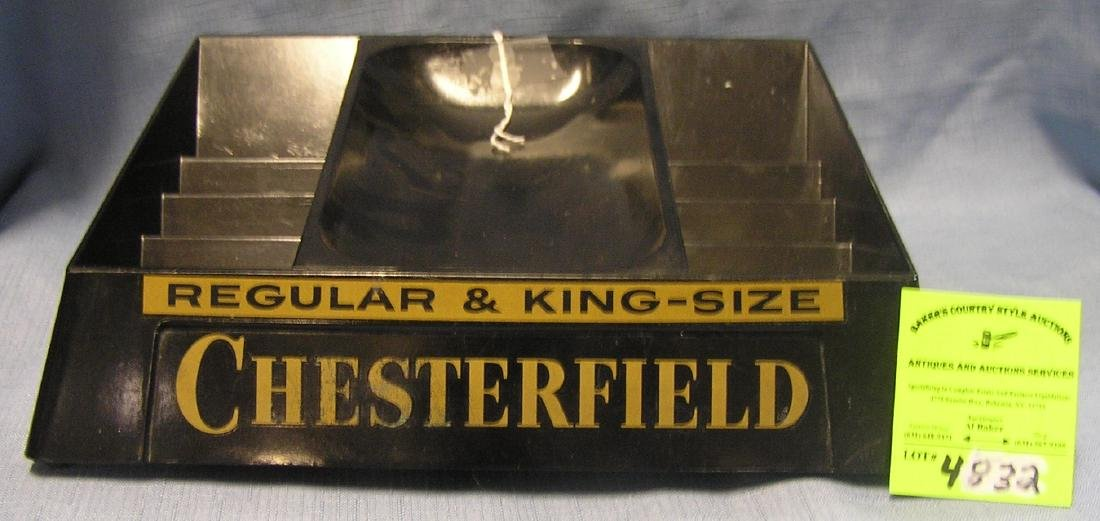 Chesterfield cigarettes advertising display piece