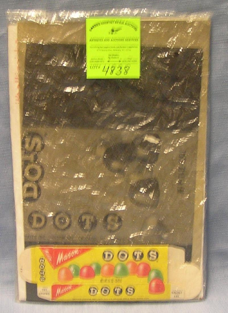 Vintage Dots Candy advertising proof sheet