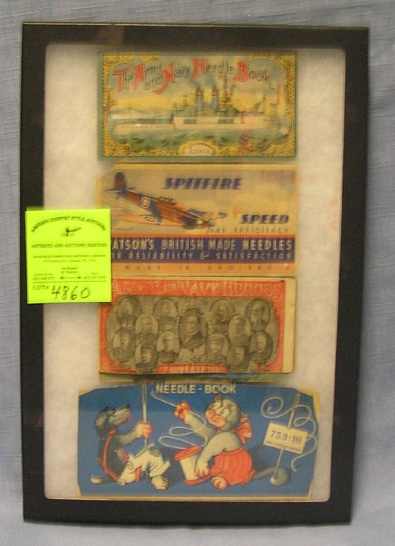 Group of antique advertising sewing kits