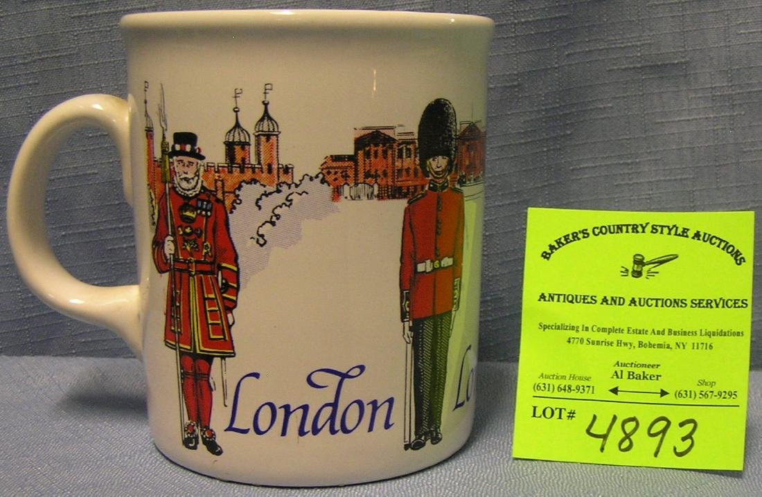 Vintage London England Shaving mug