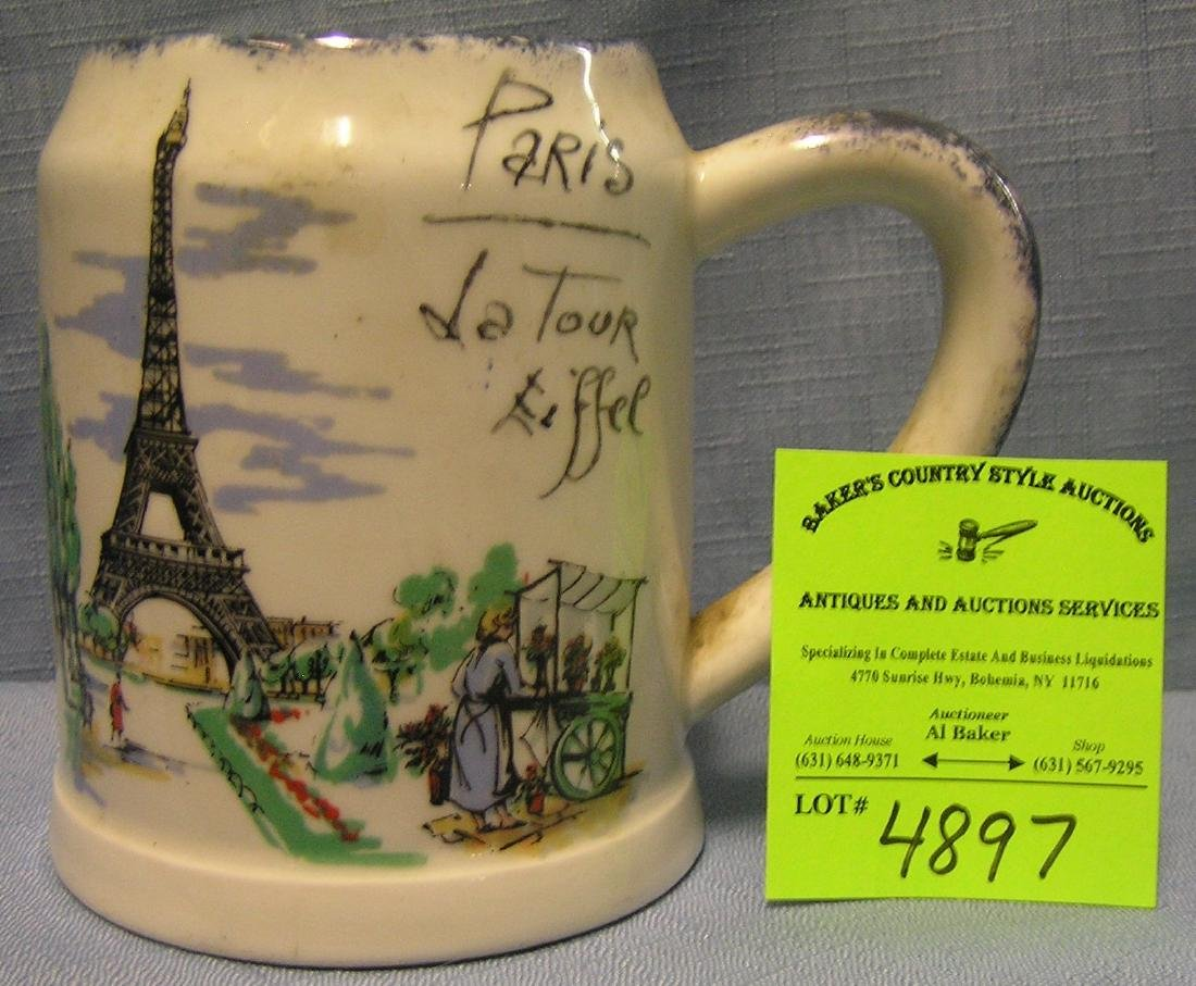 Early Paris France double sided shaving mug