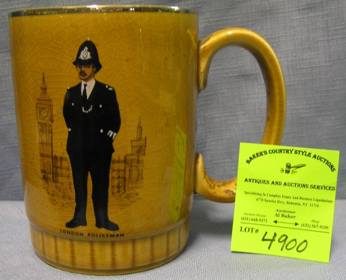 Early London Policeman beer mug