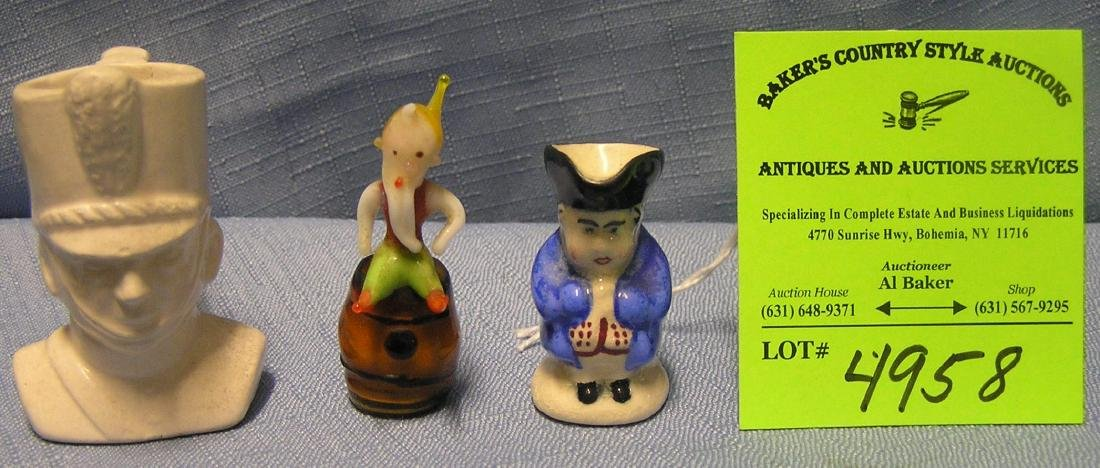 Group of three vintage figurines