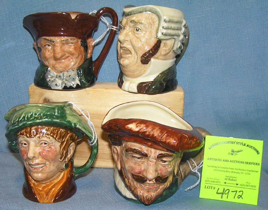 Group of Four vintage Royal Dalton character mugs
