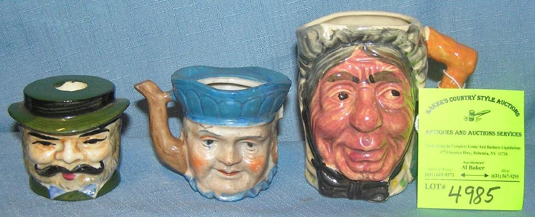 Group of vintage Toby mug style collectibles