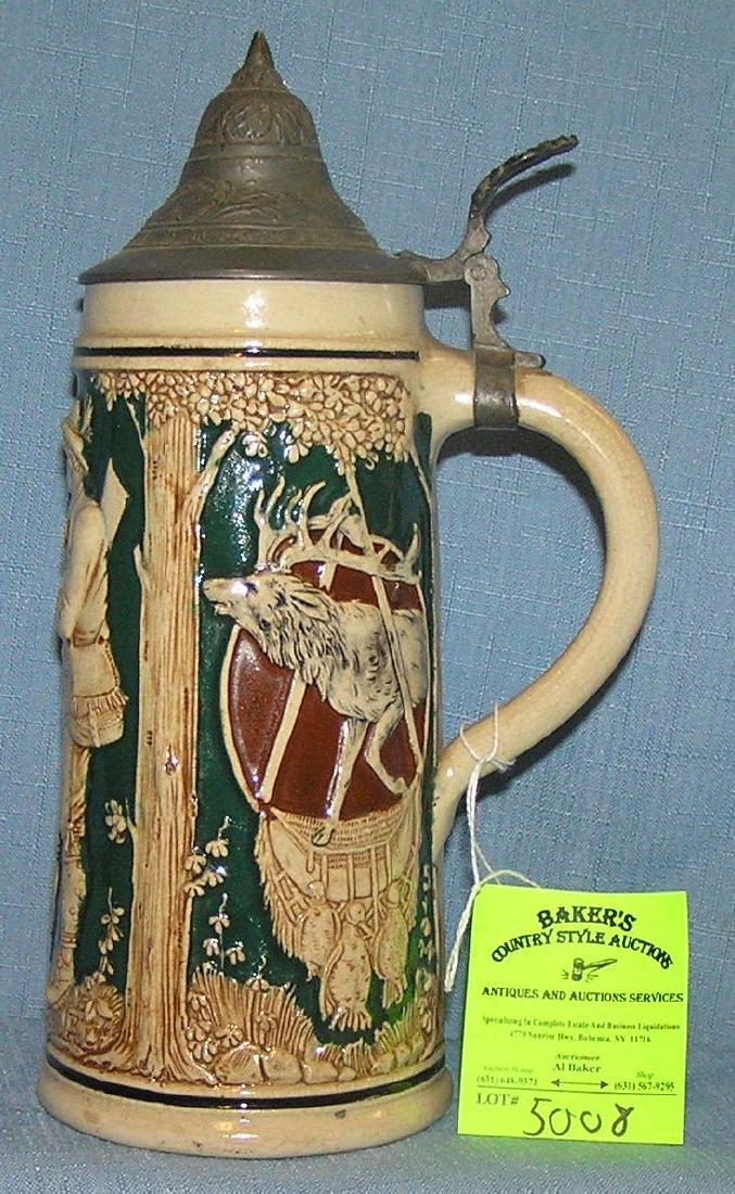 Early German beer stein