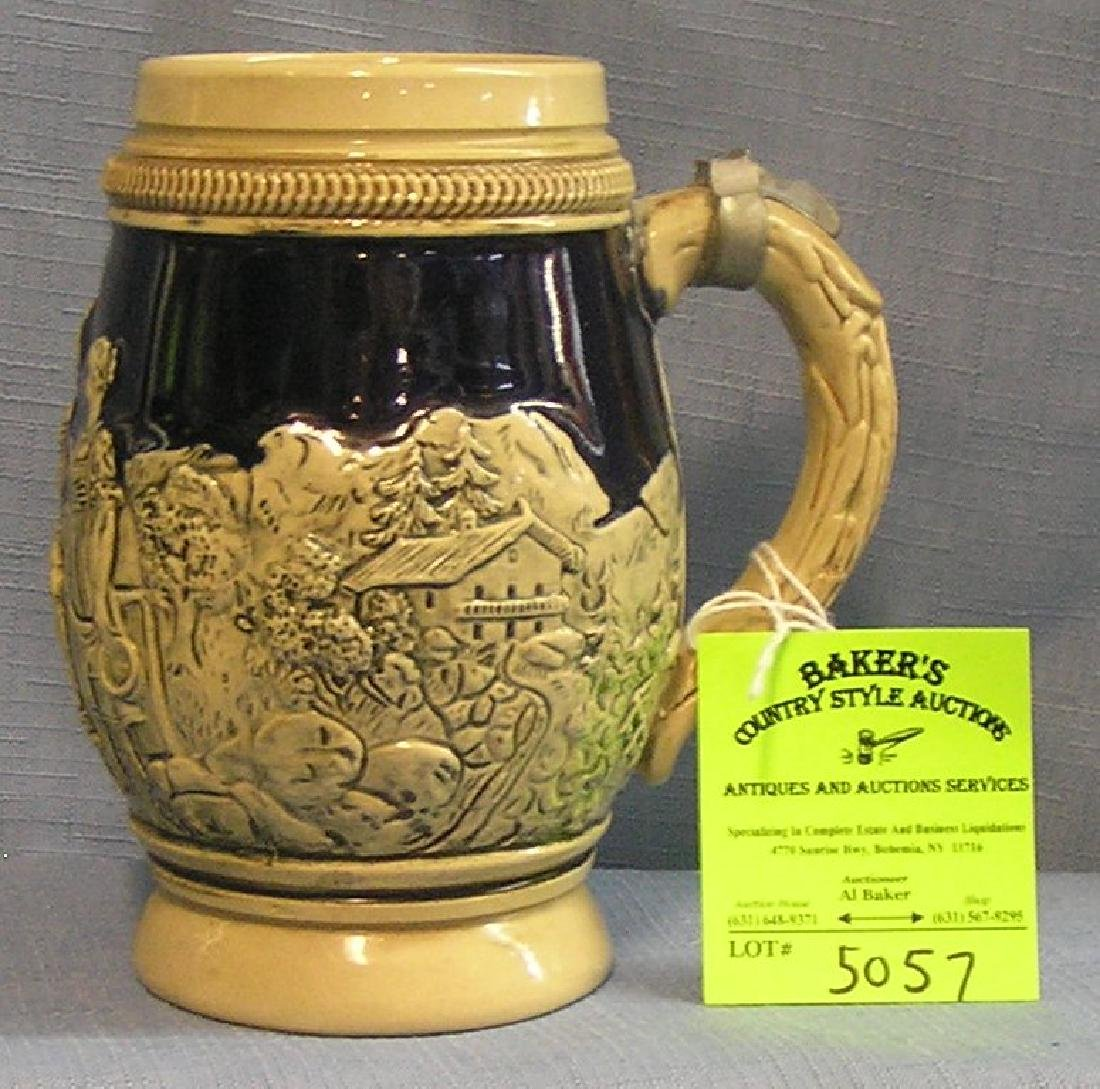 Vintage German beer stein less cover