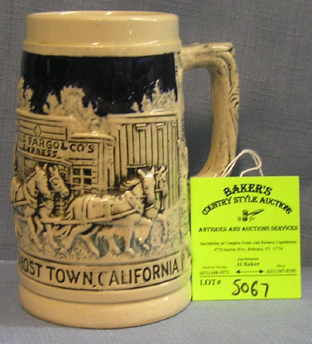 Vintage Knott's Berry Farm Ghost Town beer stein