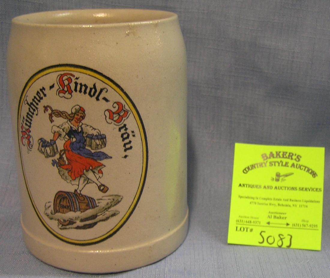 Antique German advertising beer mug