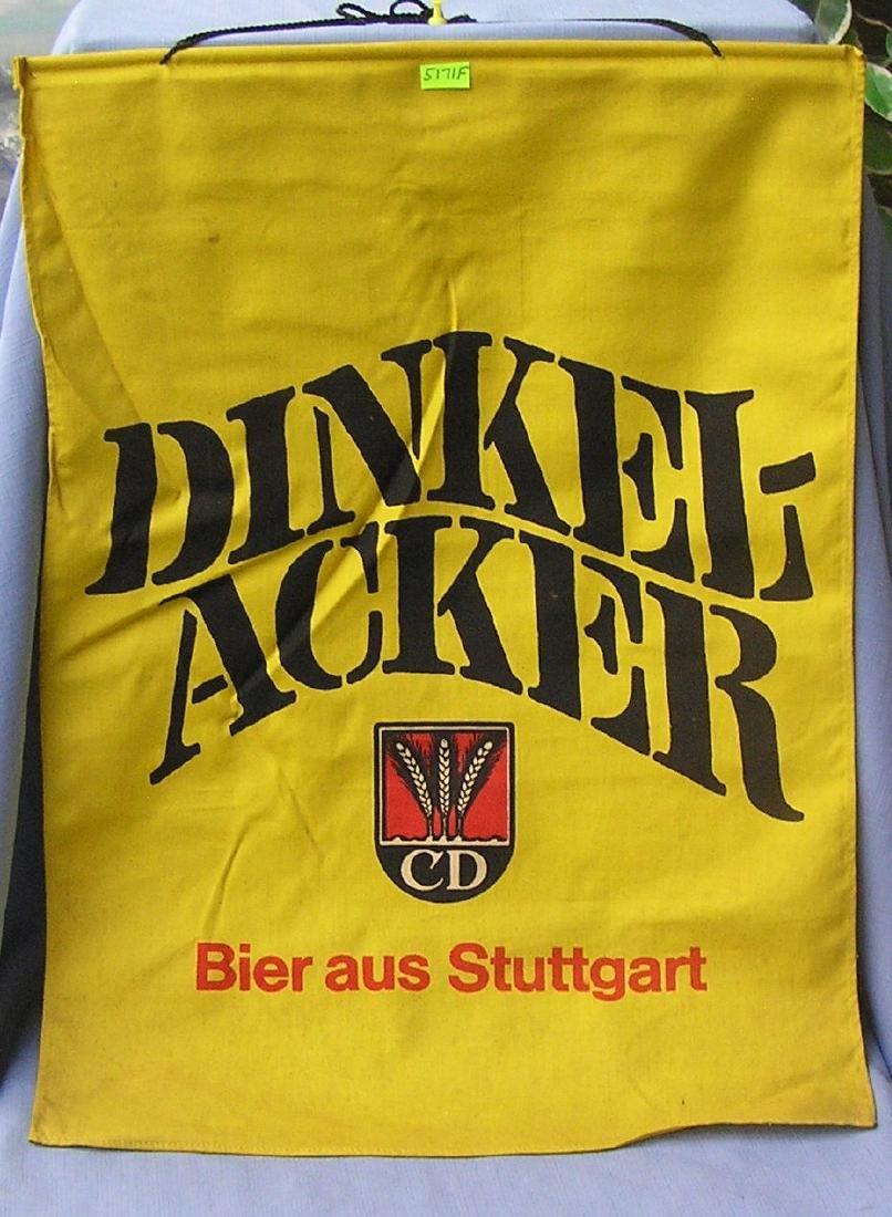 Dinkel Acker vintage canvas hanging beer banner