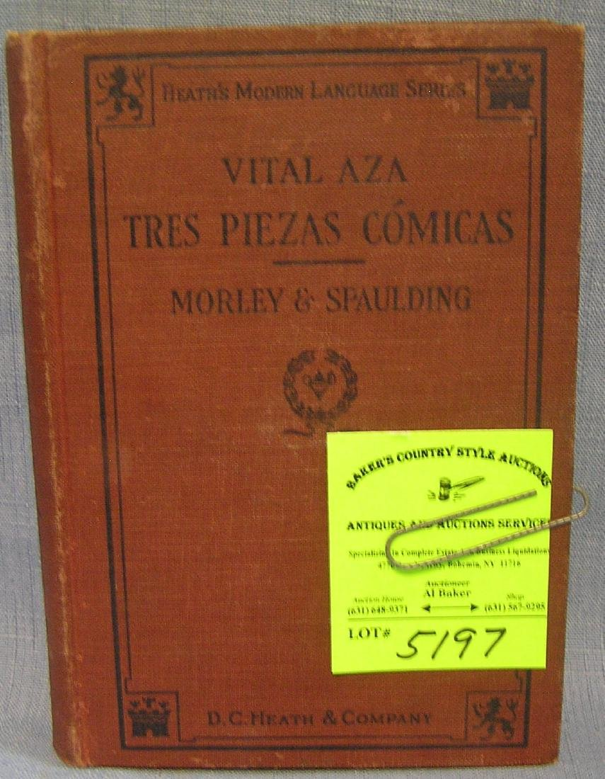 Antique book: Tres Piezas Comicas