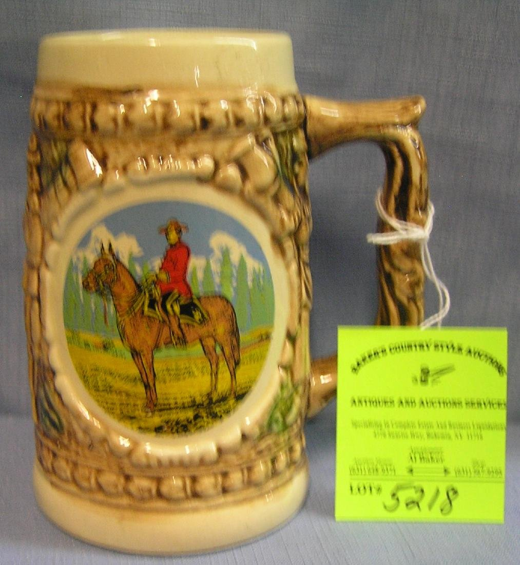 Royal Canadian mounted police souvenir beer mug