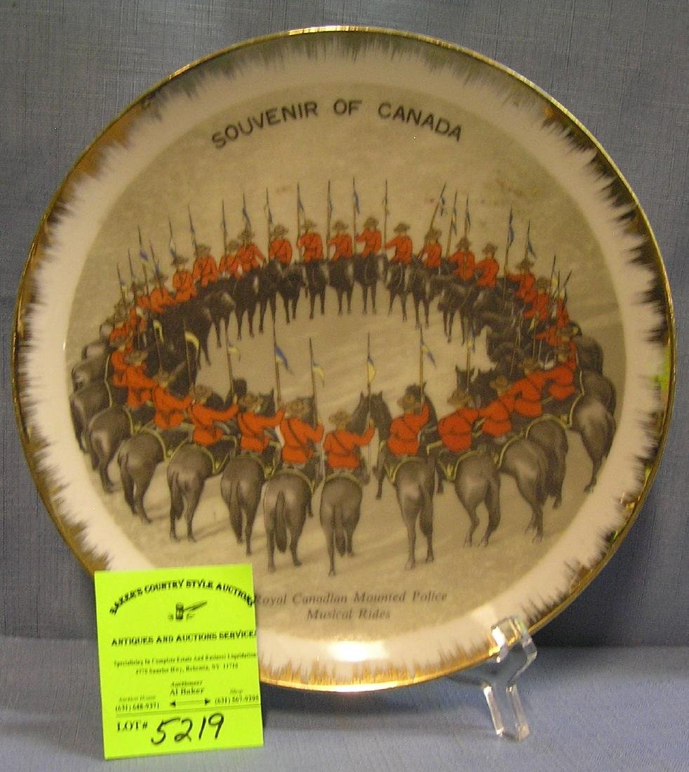 Royal Canadian mounted police souvenir plate