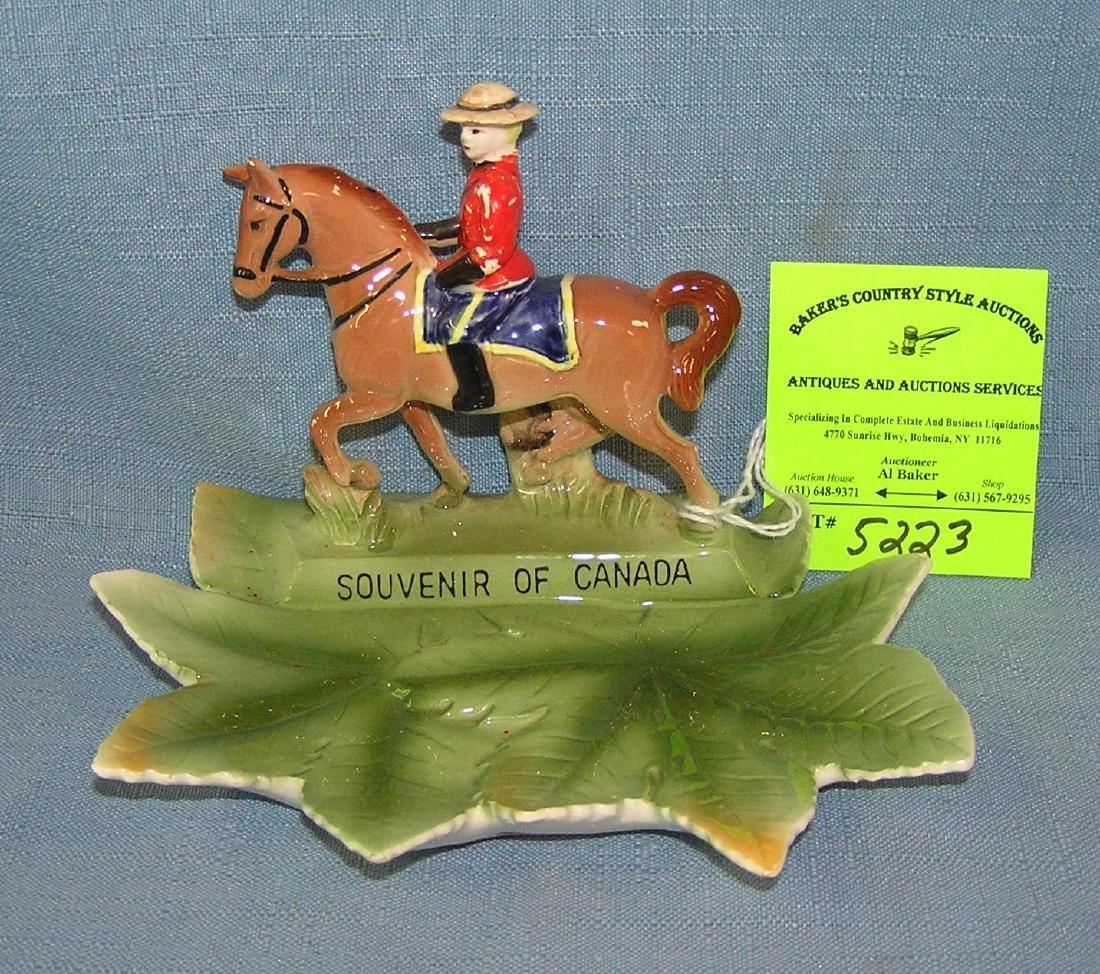 Royal Canadian mounted police figural souvenir dish