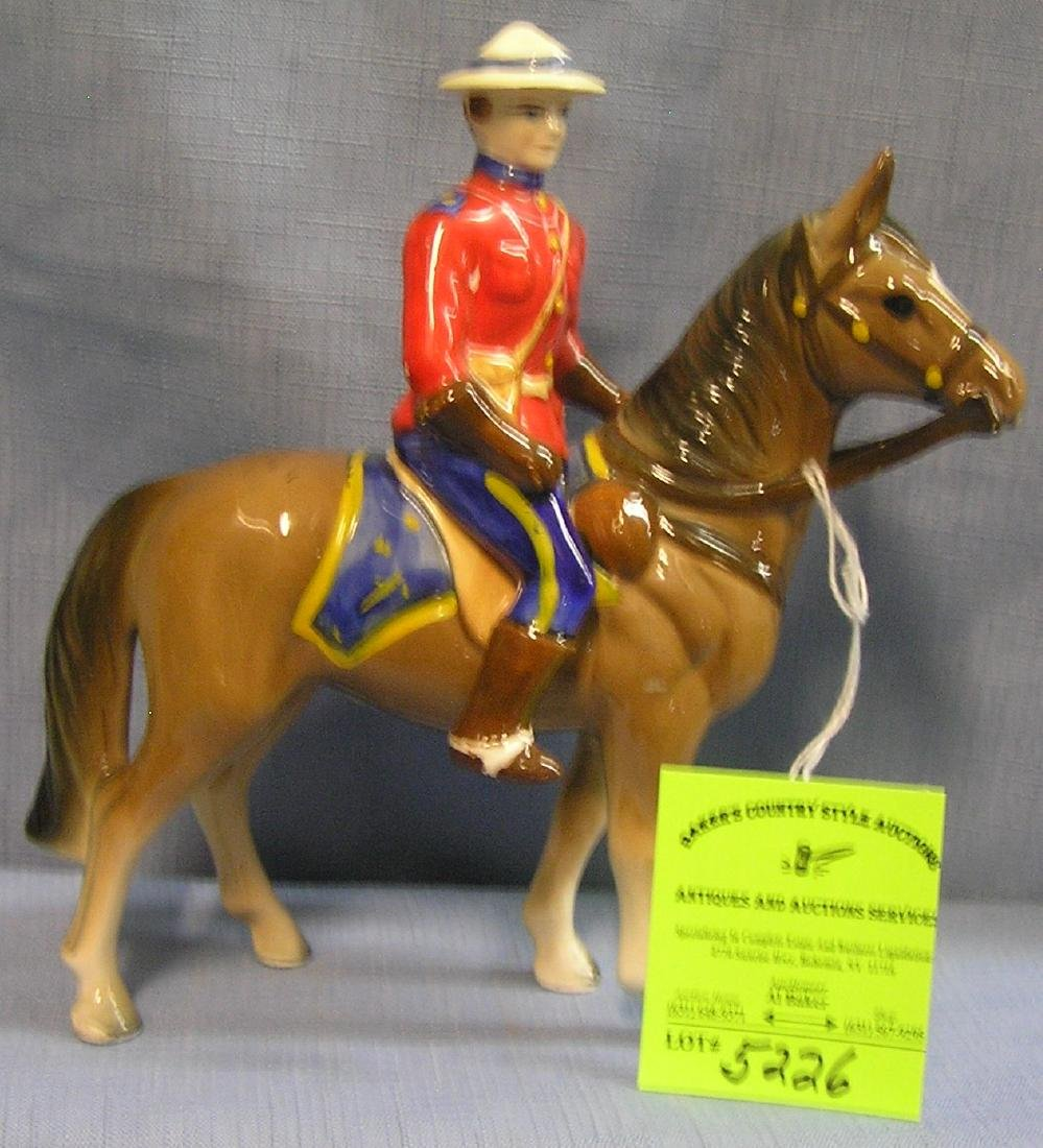 Canadian royal police figure on horseback