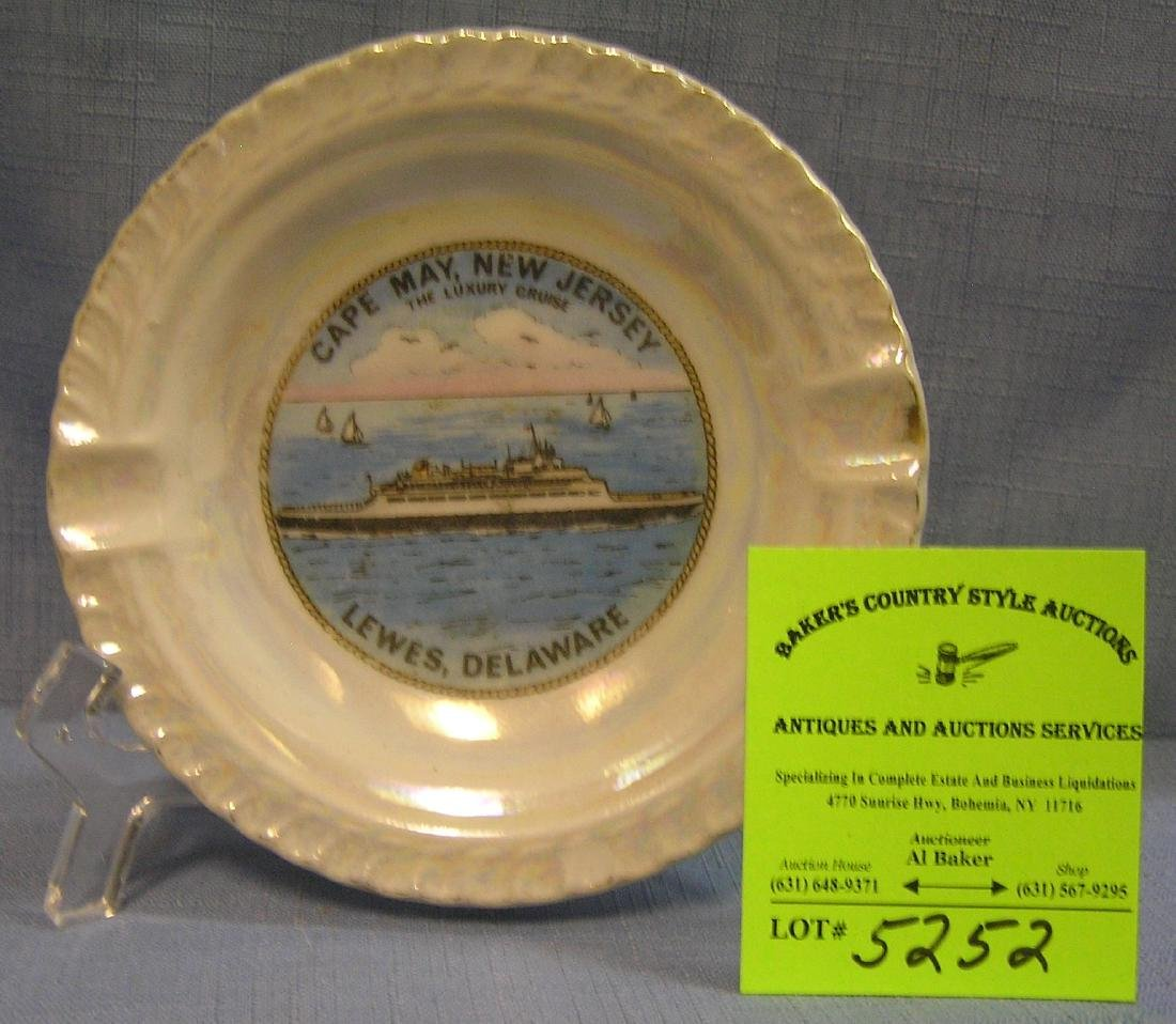 Vintage souvenir ash tray from Cape May NJ