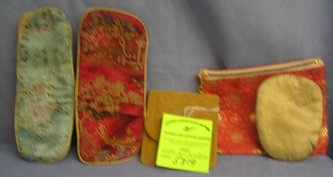 Five piece quality case and sewing kit group
