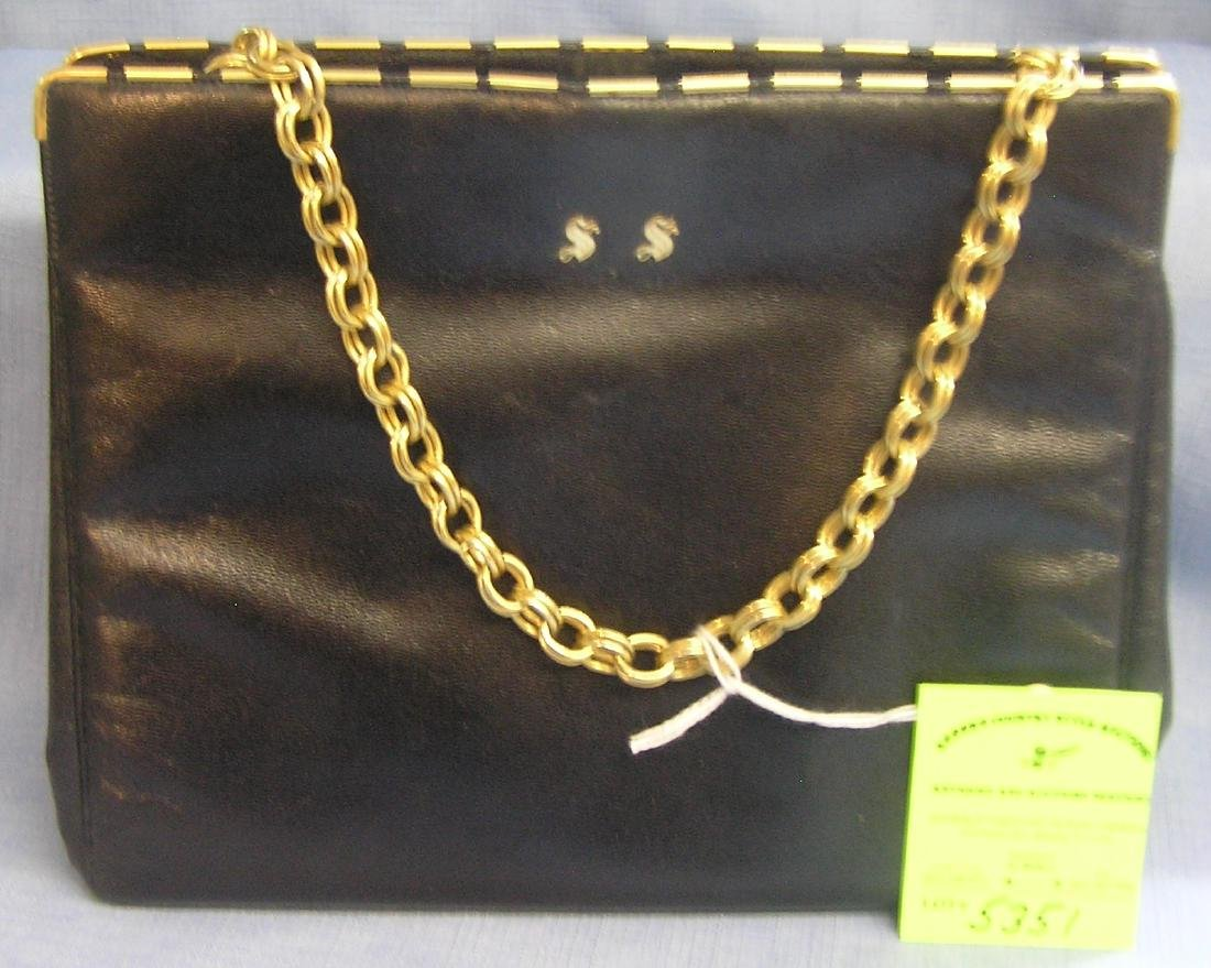 High quality leather hand bag from Hollo bros