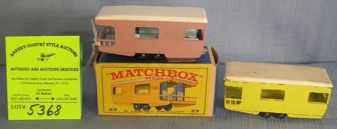 Matchbox caravan in pink w/ rare yellow caravan