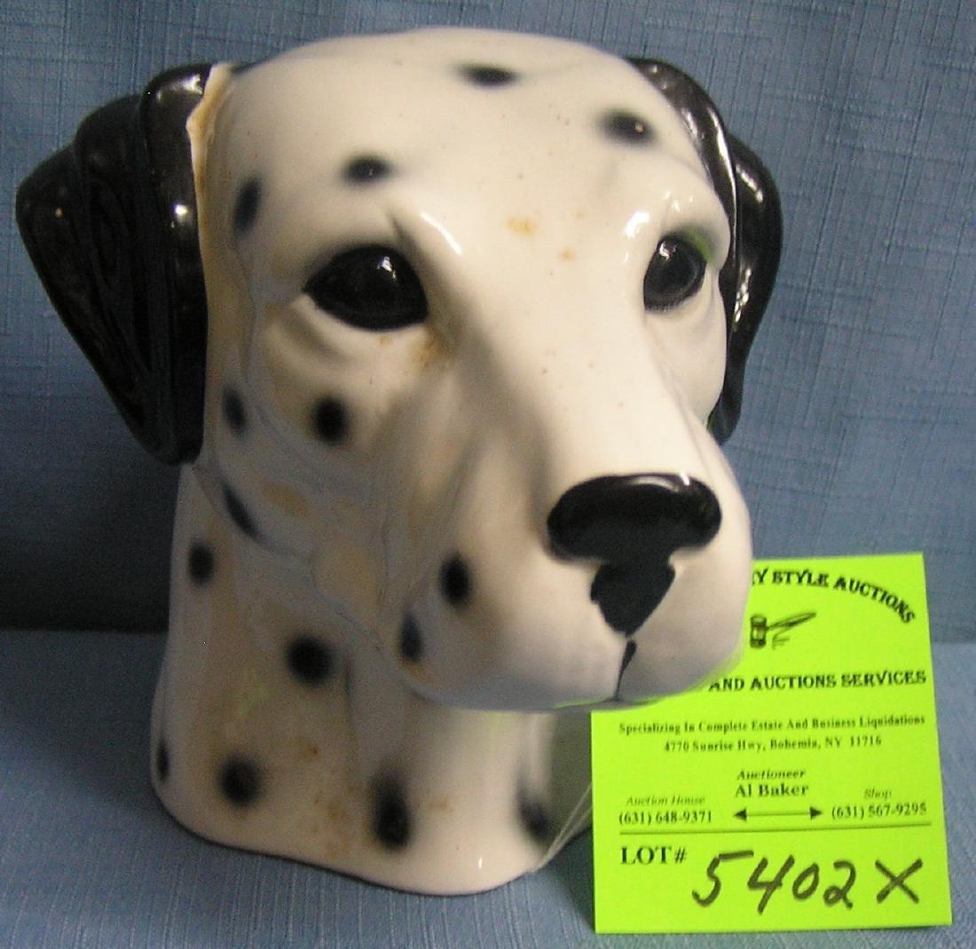 Early Dalmatian dog bank