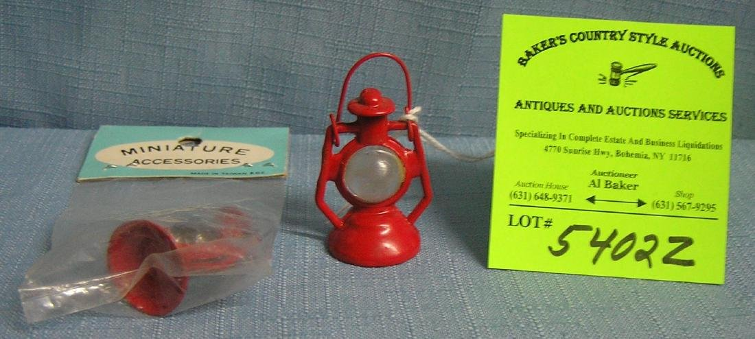 Pair of miniature lanterns one with original package