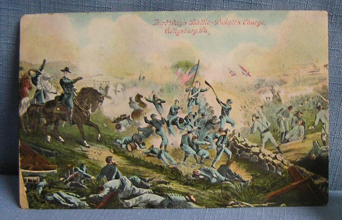 Early Civil War post card of Pickets Charge