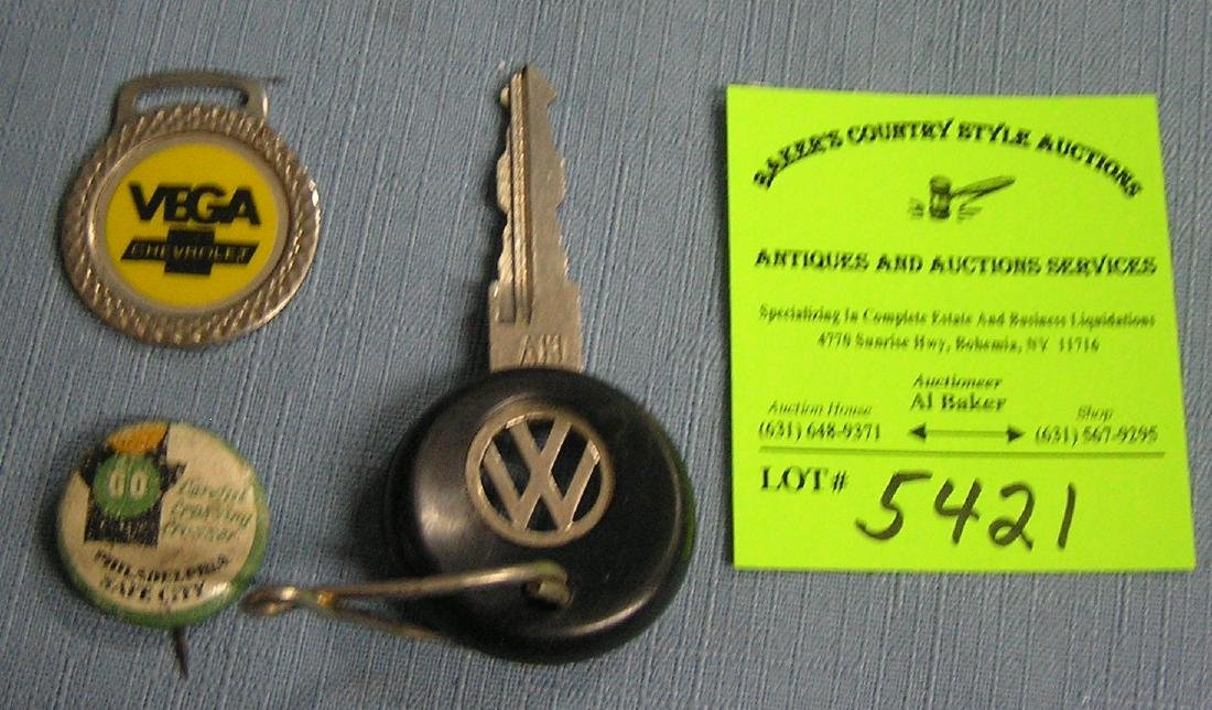 Group of vintage automotive collectibles
