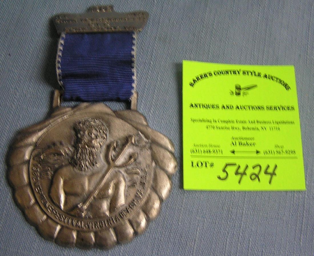 Neptune festival Virginia Beach award medal