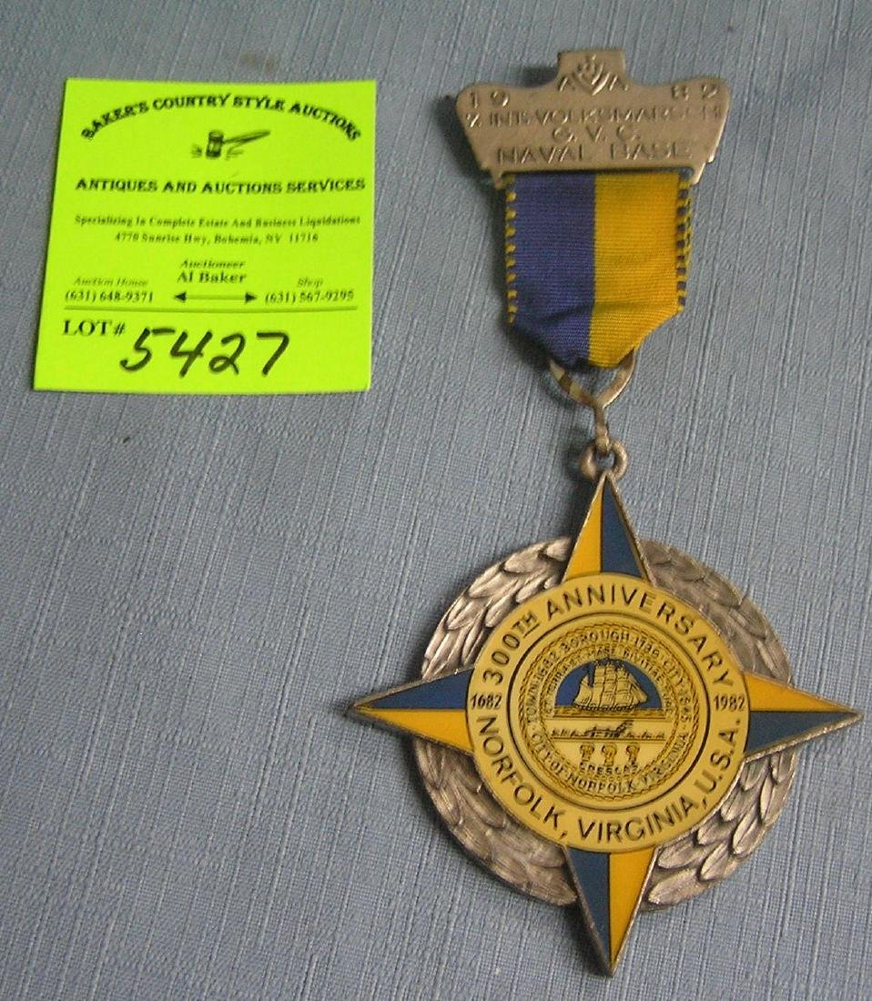 Vintage Virginia Naval base award medal