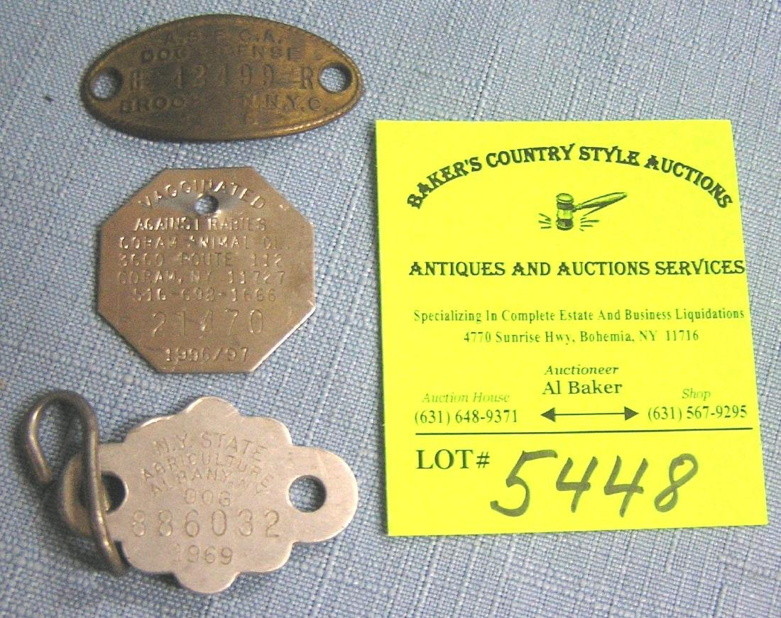 Group of vintage dog tags