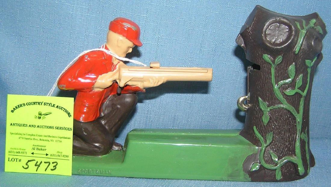 Vintage Sportsman mechanical shooting coin bank