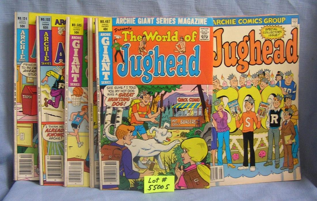 Group of vintage Archie series comic books
