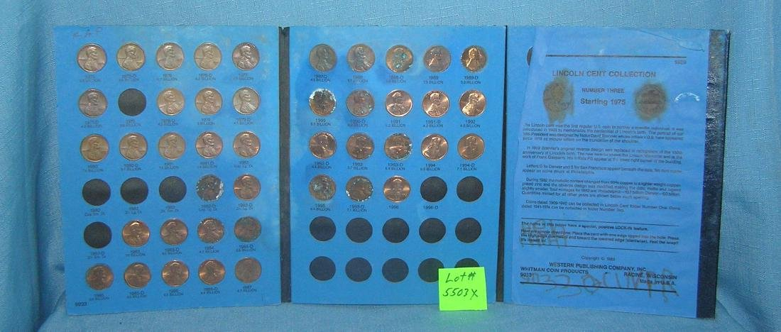 Lincoln penny collection 1975 to 1996