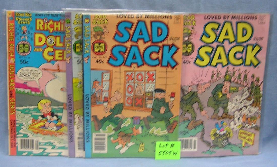 Group of 5 vintage Sad Sack comic books