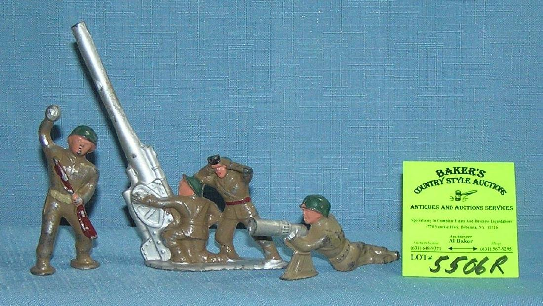 Vintage hand painted WWII style toy soldiers