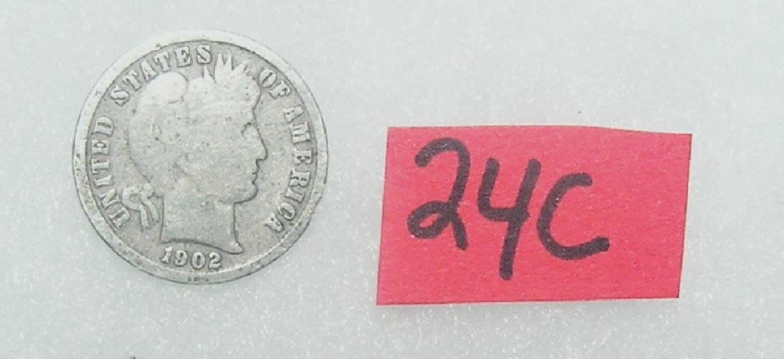 Early Silver Barber Head American Dime