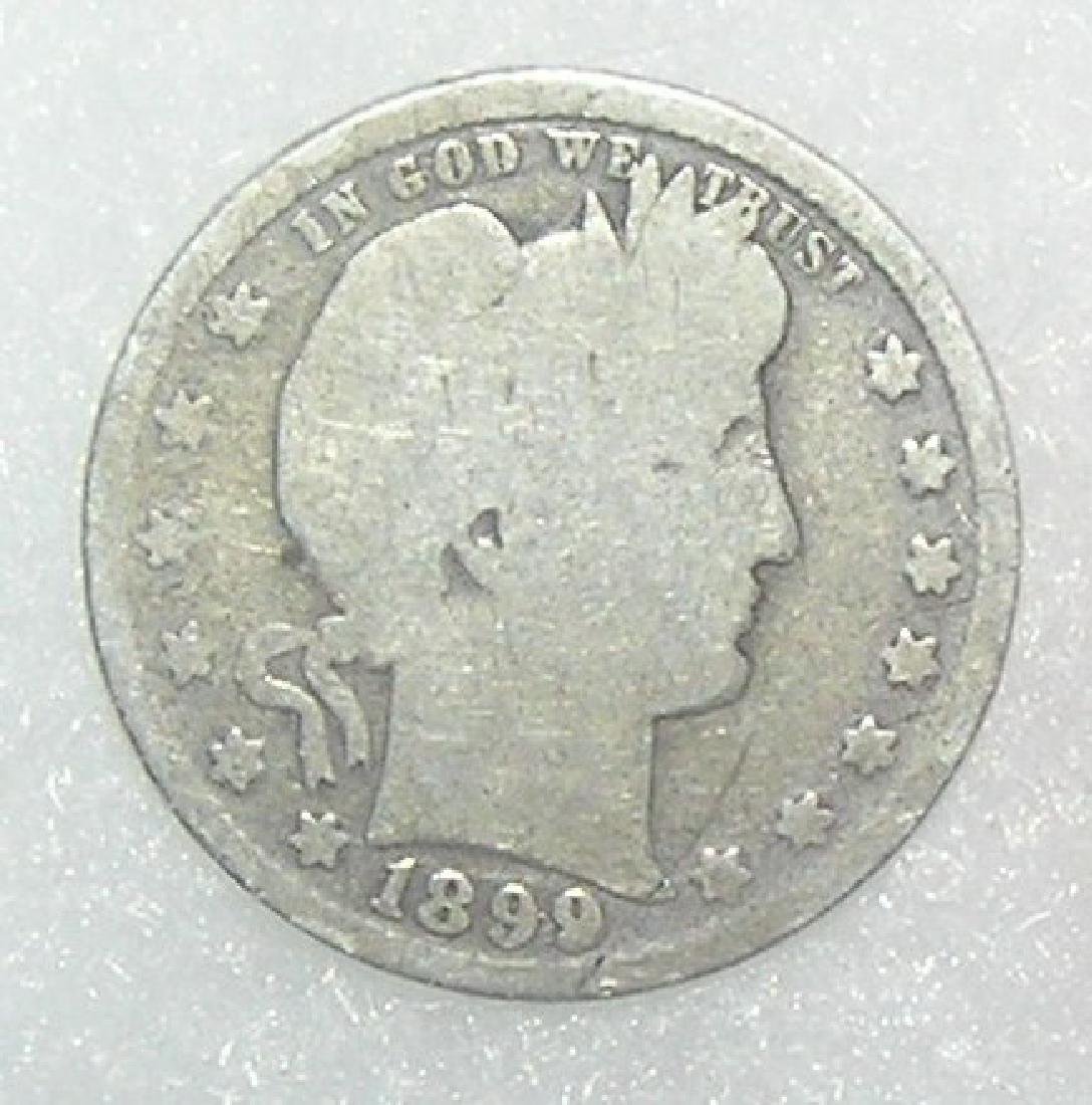 Early Silver Barber Head American Quarter