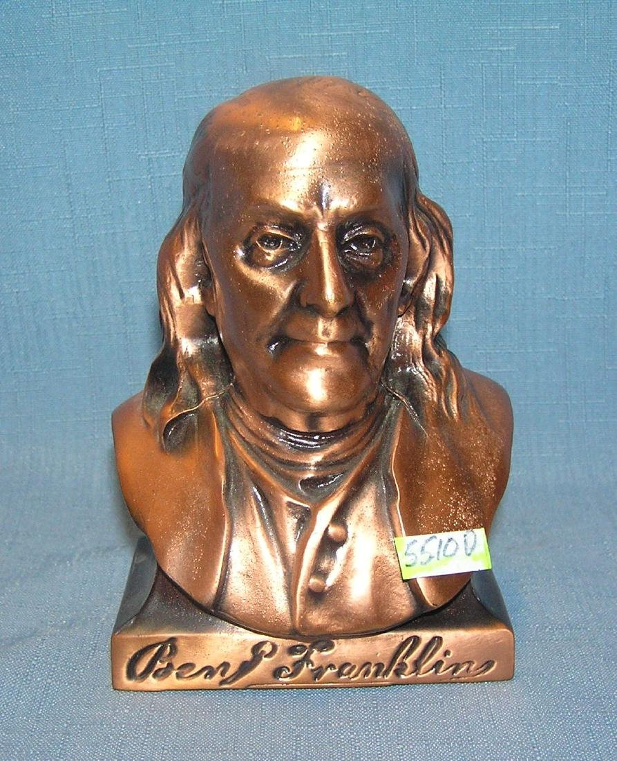 Benjaman Franklin figural cast metal bank