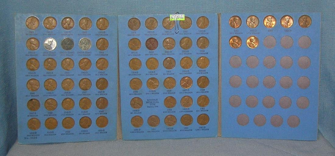 Large group of vintage Lincoln pennies