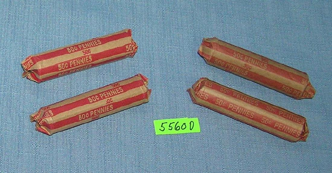 Vintage Lincoln wheat back pennies