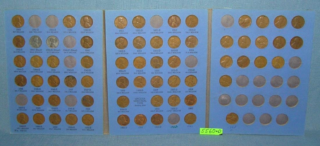 Vintage Lincoln penny collection 1941 to 1968