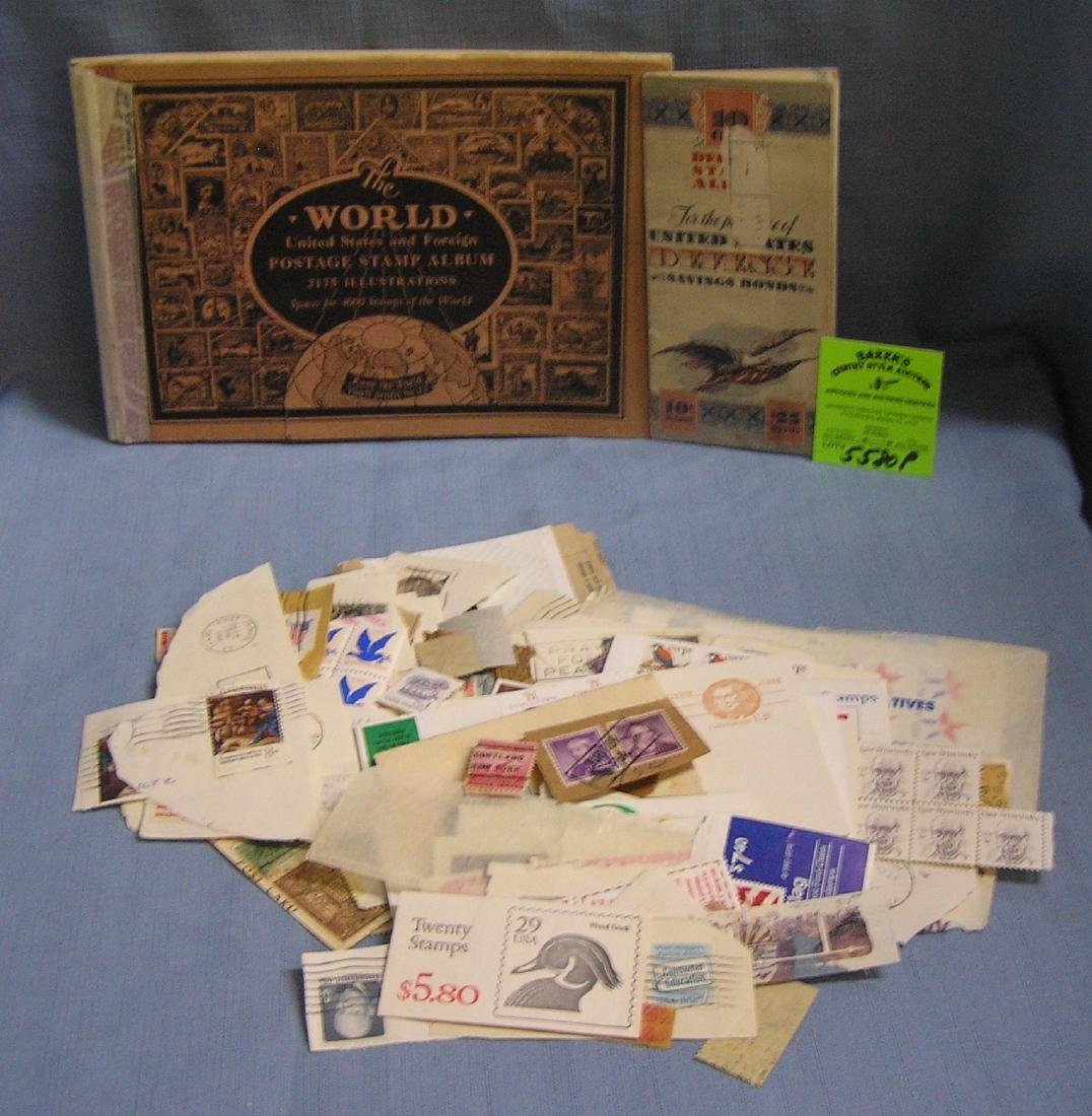Large group of antique and vintage stamps