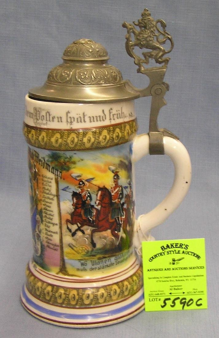 Antique German beer stein